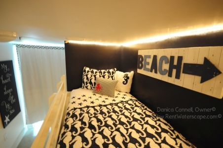 Rope Lighted Bunk Room