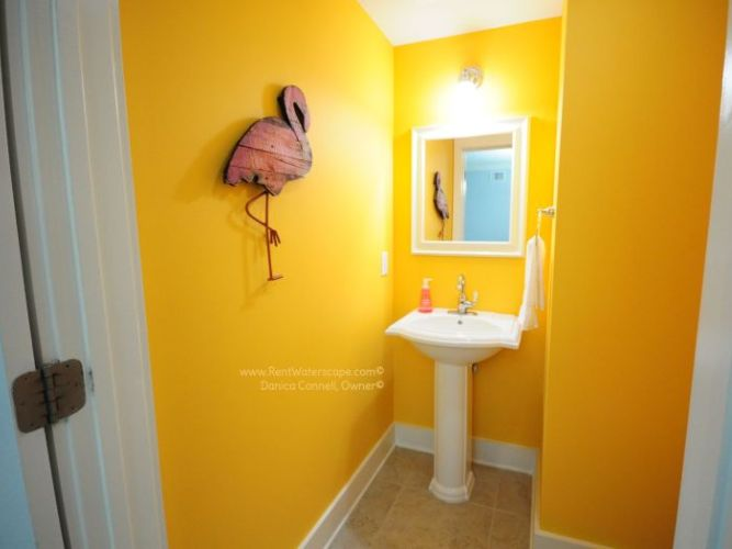 Flamingo Tangerine Bathroom