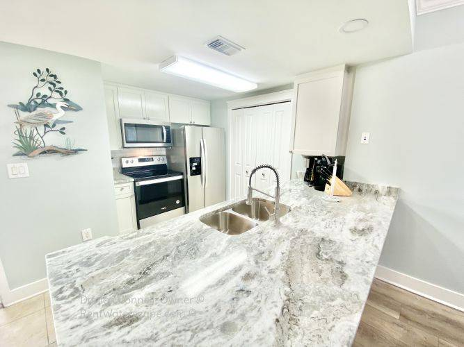 Fully stocked kitchen condo